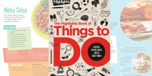 The Highlights Book of Things to Do Just $19.99 Shipped | Over 530 Experiments, Crafts, Recipes, & More