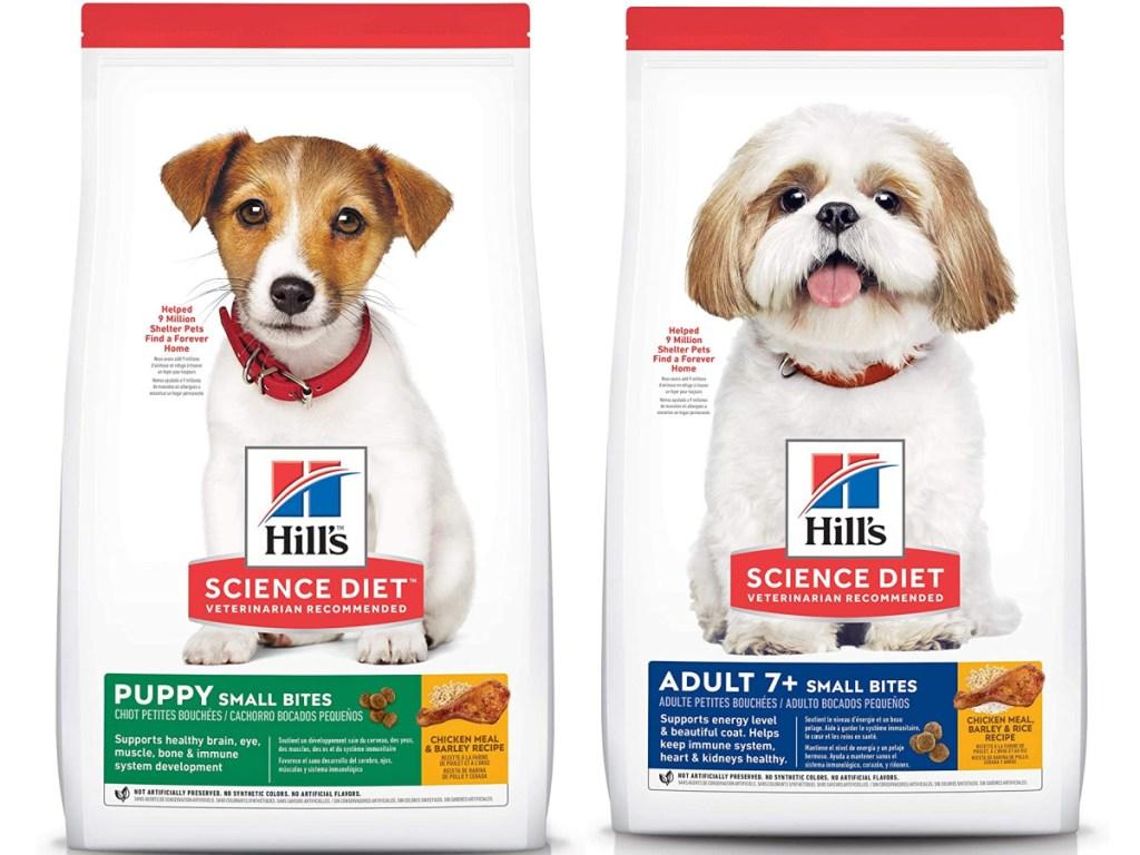 2 bags of hills science diet dog food