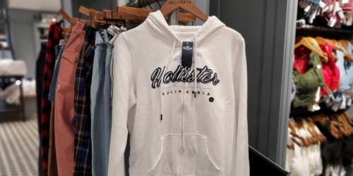 Hollister Men's & Women's Apparel from $8.73   Tees, Hoodies, Joggers, & More