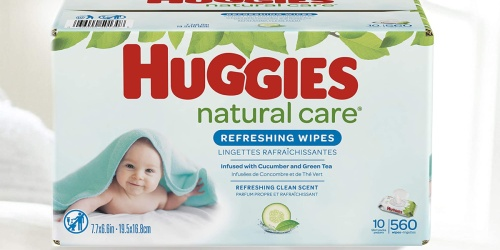 Huggies Natural Care Baby Wipes 560-Count Only $11 Shipped on Amazon