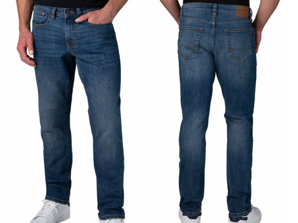 front and back of men's izod jeans