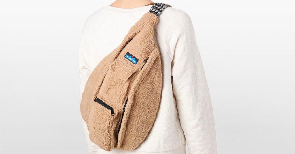 KAVU Driftwood Rope Fleece Sling Backpack