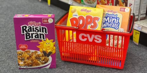 Kellogg's Cereal Only $1.49 Each at CVS | Starting 8/8