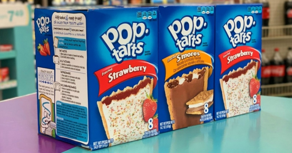 3 boxes of Kellogg's pop tarts