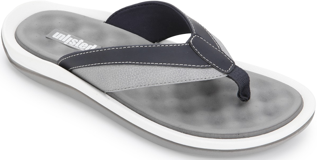 gray and white sandal