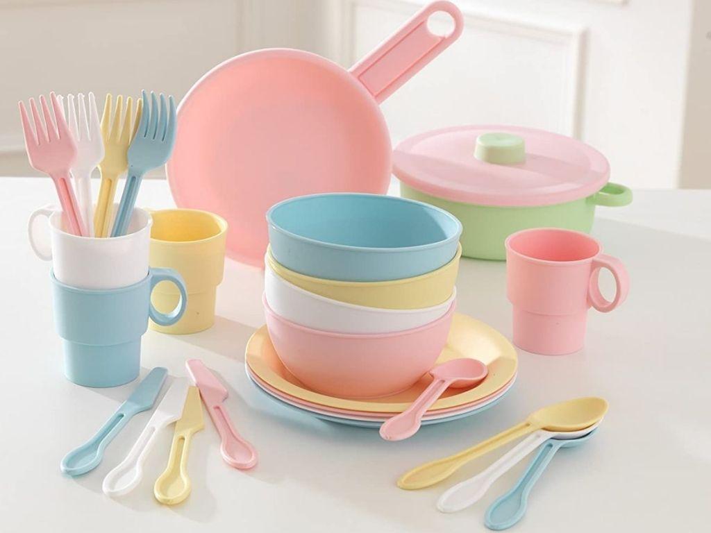Kidkraft Pastel Plastic Cookware Set