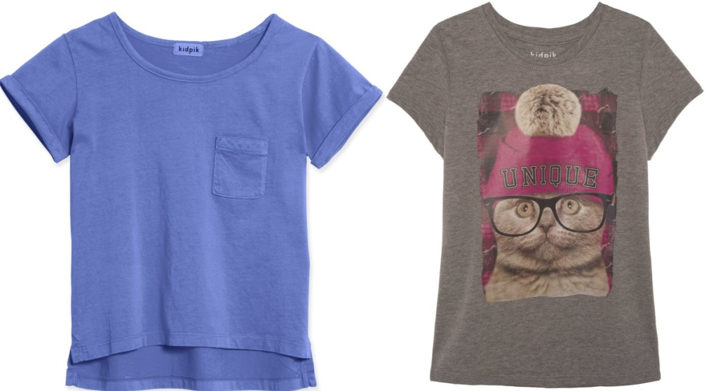 two styles of graphic tees