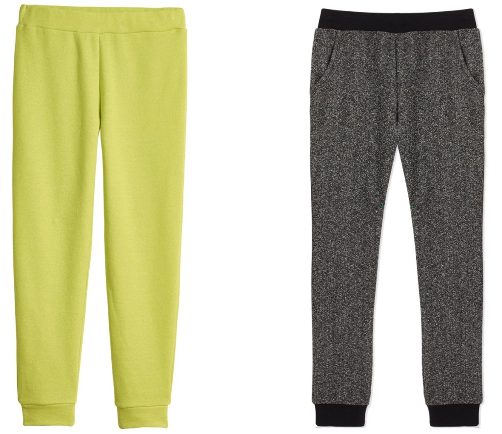 two styles of joggers pants