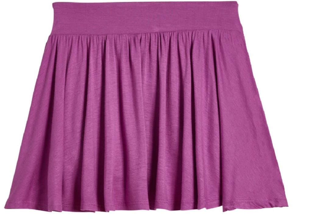 small purple skort