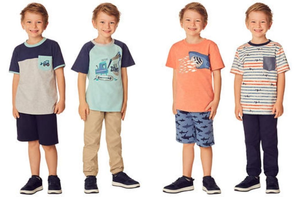 boys in two Kids Headquarters Boys Construction 4-pc. Sets