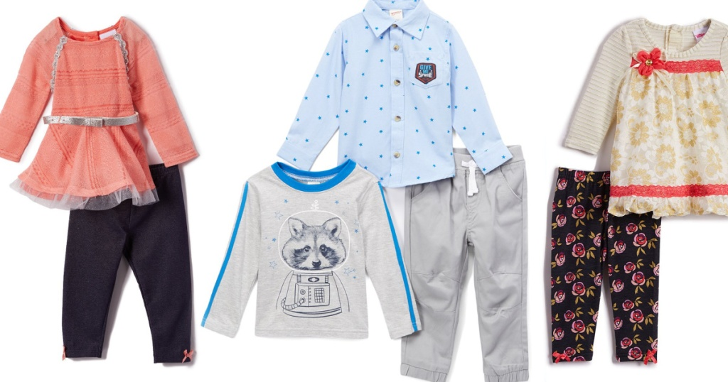 A variety of kids and baby outfit sets