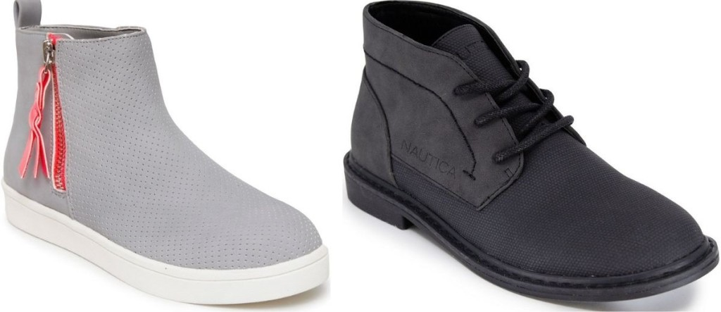 two pairs of kids shoes