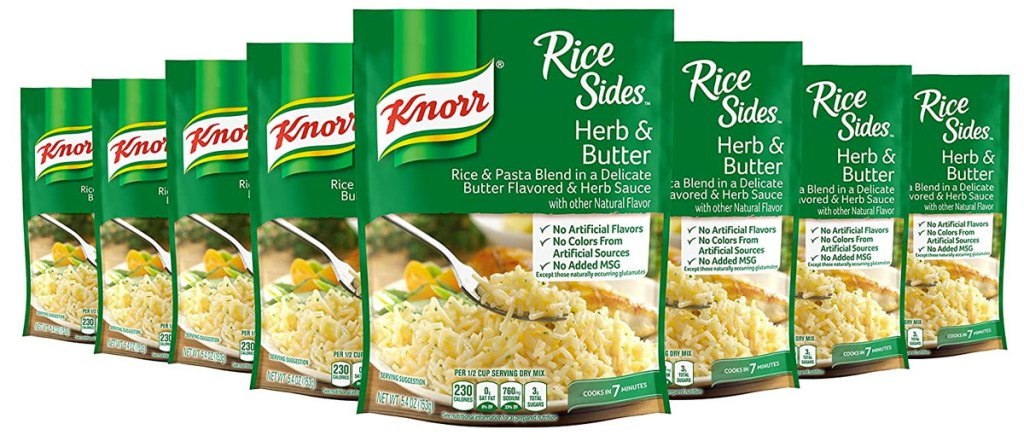 8 packs of knorr rice sides