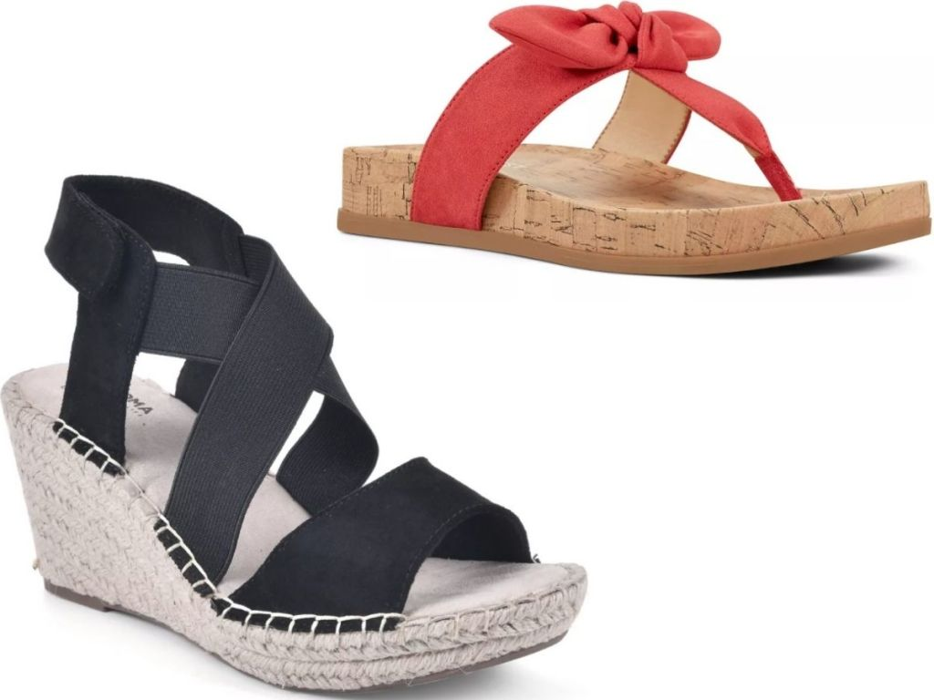 Kohl's Sonoma and Nine West Sandals