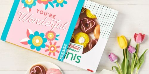 Treat Mom to a Box of Krispy Kreme Pretty Mini Doughnuts