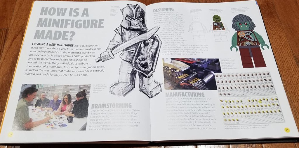 pages in a LEGO Minifigure book