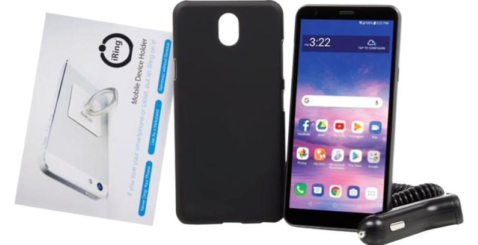 smartphone, charger and case