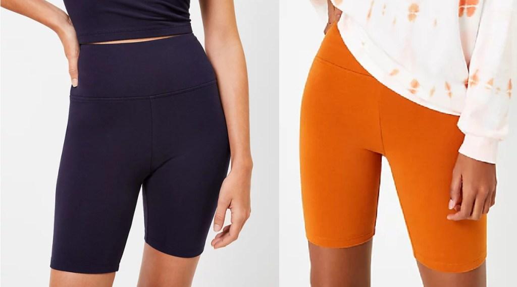 women wearing shorts
