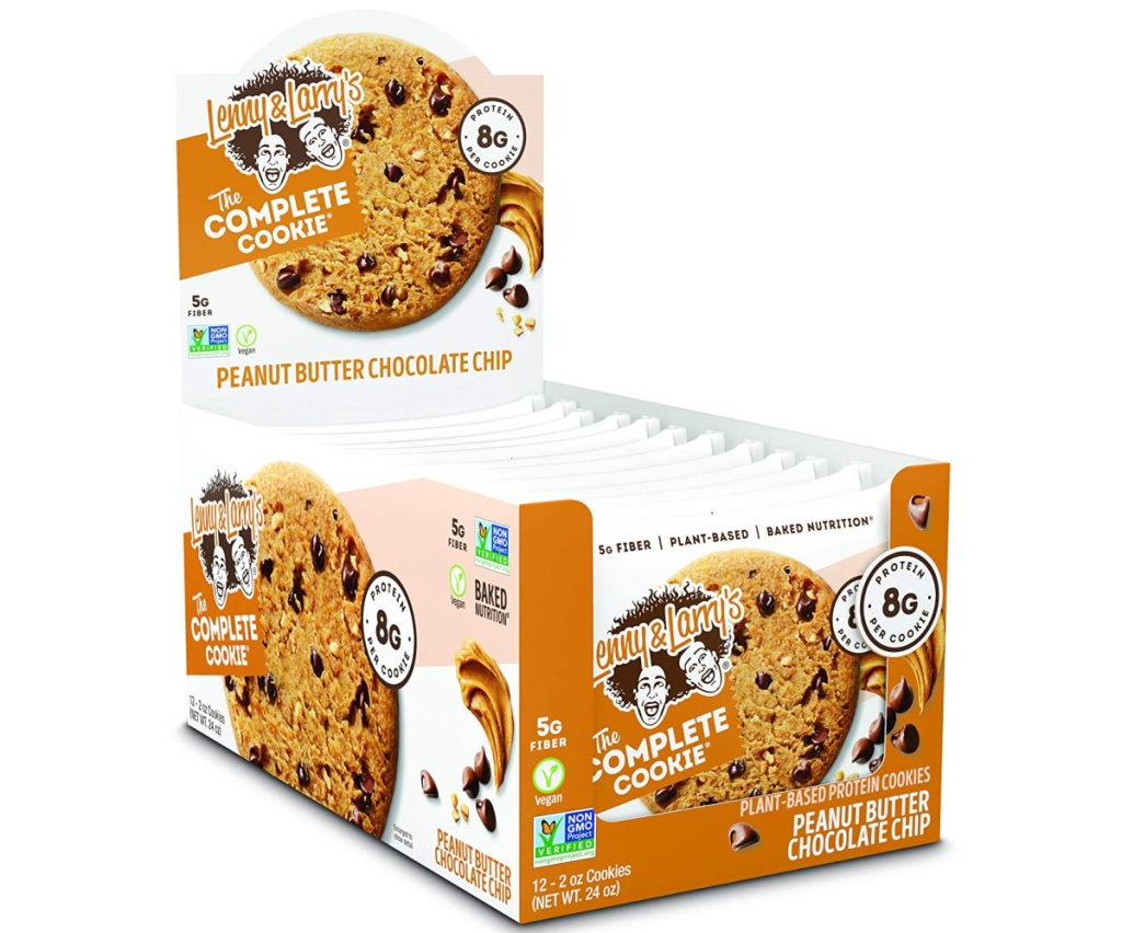 large box of protein cookies