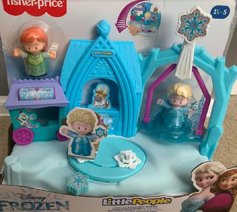 little people disney frozen playset in packaging