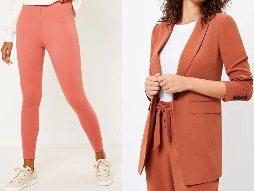 Loft women's leggings and blazer