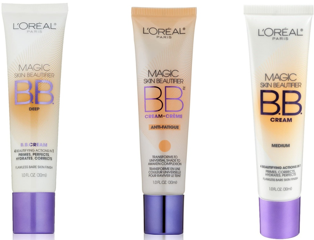 Three shades of BB cream