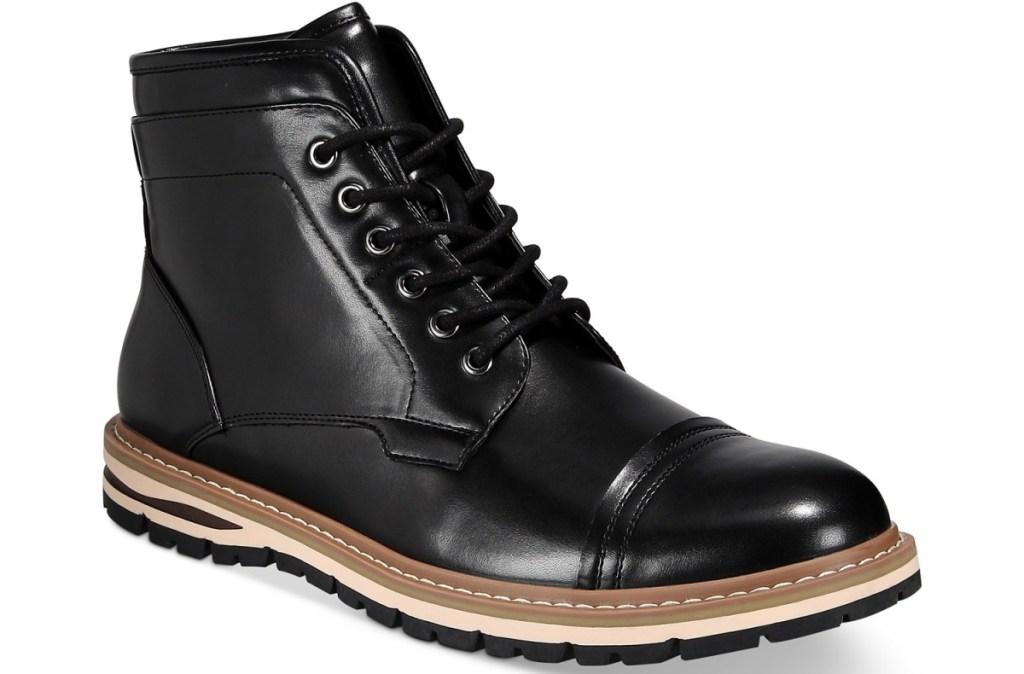 black boot for men