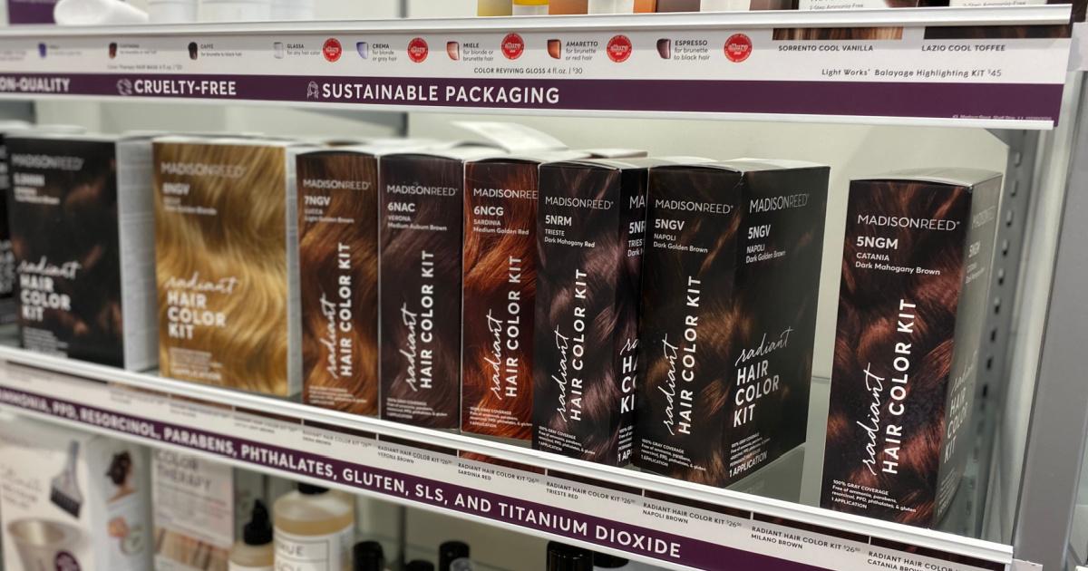 MadisonReed brand hair color kits