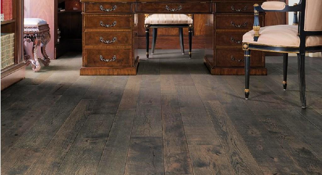 Malibu Wide Plank Hickory Carmel Engineered Click Hardwood Flooring