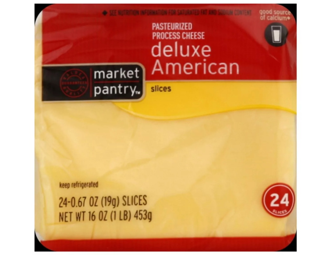 package of American cheese