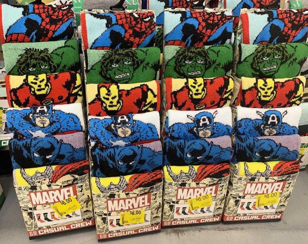 sets of marvel crew socks