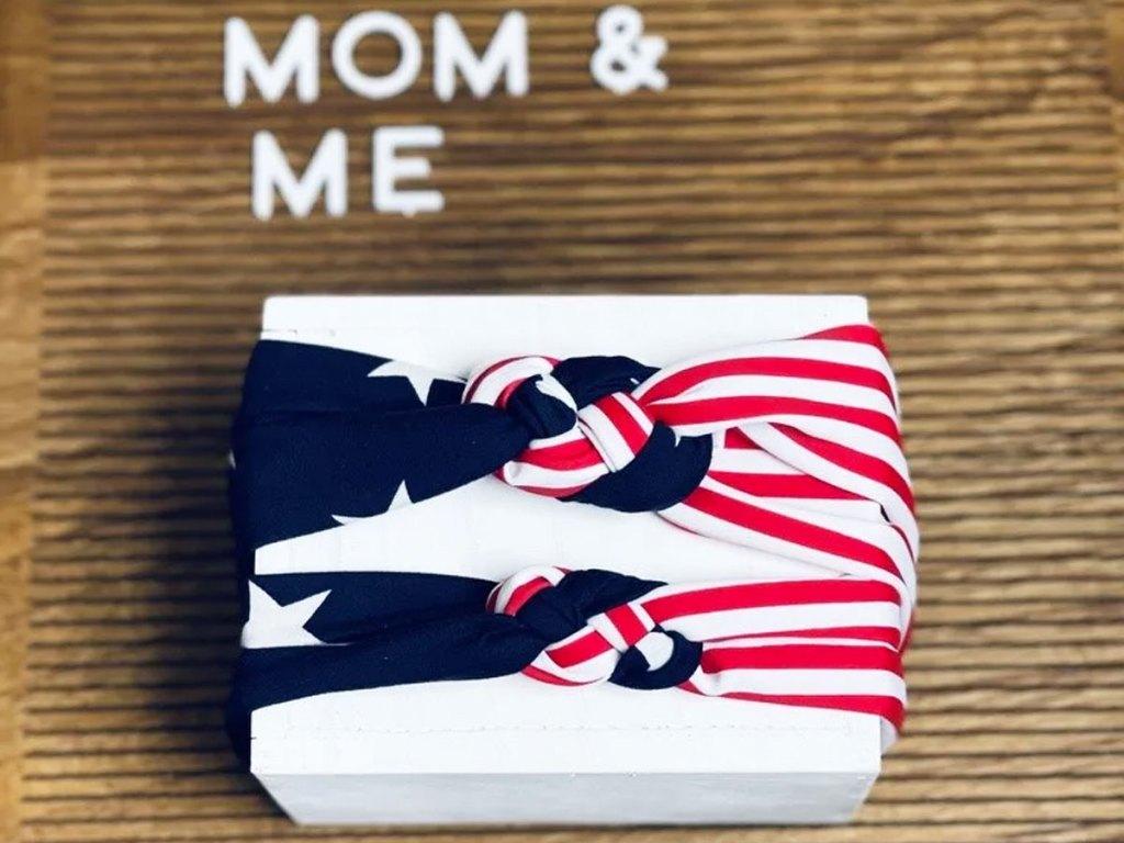 matching mommy & me patriotic headband set