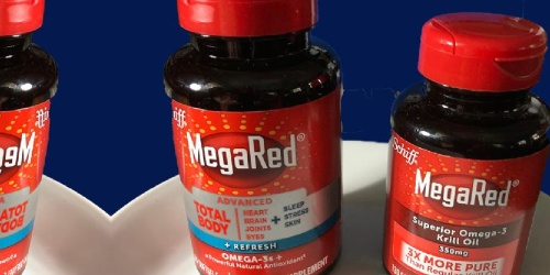 MegaRed 65-Count Bottle Only $14.75 Shipped on Amazon (Regularly $30) |  Supports Heart, Joints & More