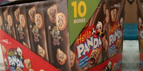 Meiji Hello Panda Chocolate Filled Cookies 10-Pack Only $10.56 on Amazon