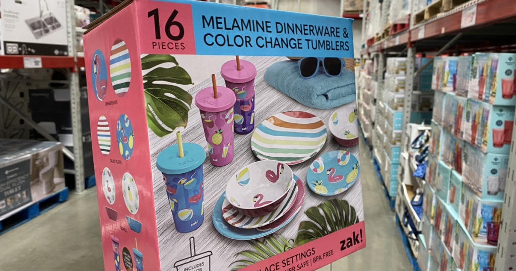 Melamime Dinnerware with Color Changing Tumblers