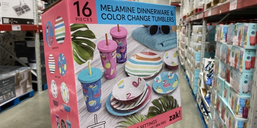 Sam's Club May Savings Week | 16-Piece Melamime Dinnerware Set w/ Color Changing Cups Just $19.99 & More