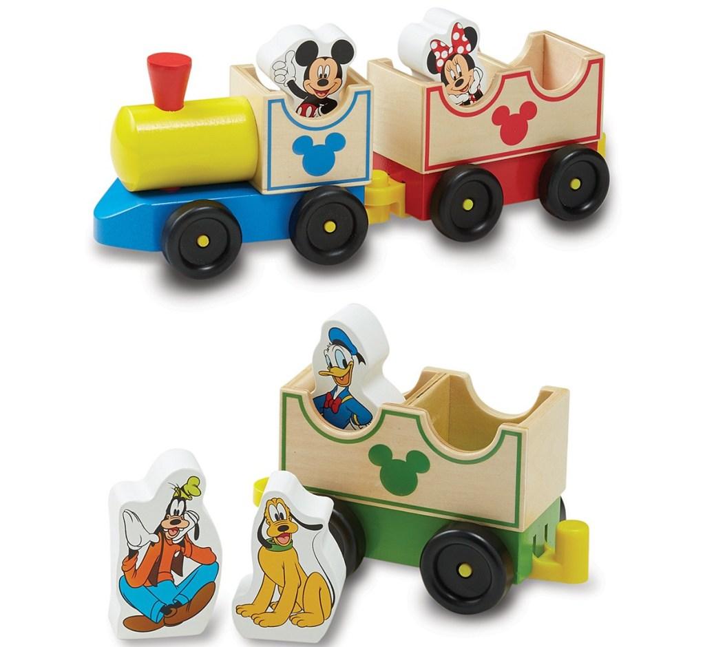 wooden Disney themed train set