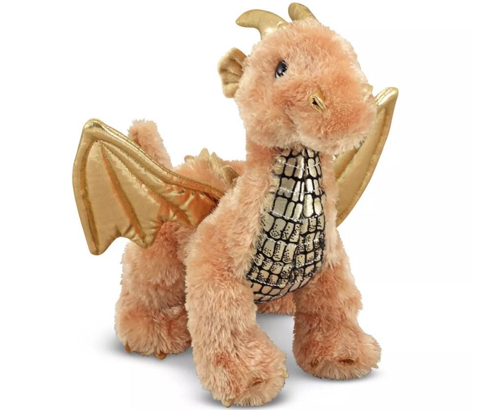 small golden plush dragon