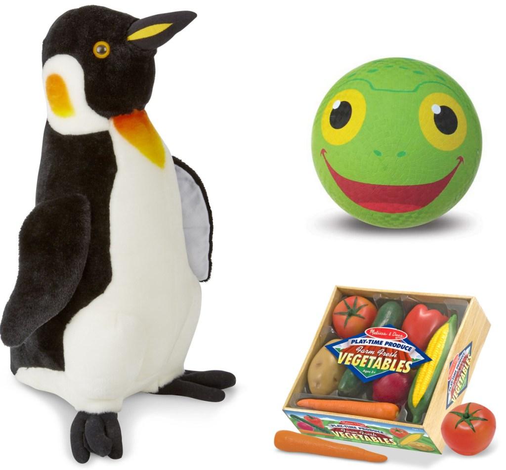 variety of Melissa & Doug toys