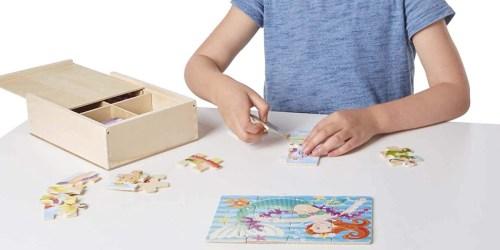 Melissa & Doug 8 Wooden Jigsaw Puzzles Boxed Set Only $9.52 on Amazon (Regularly $26)