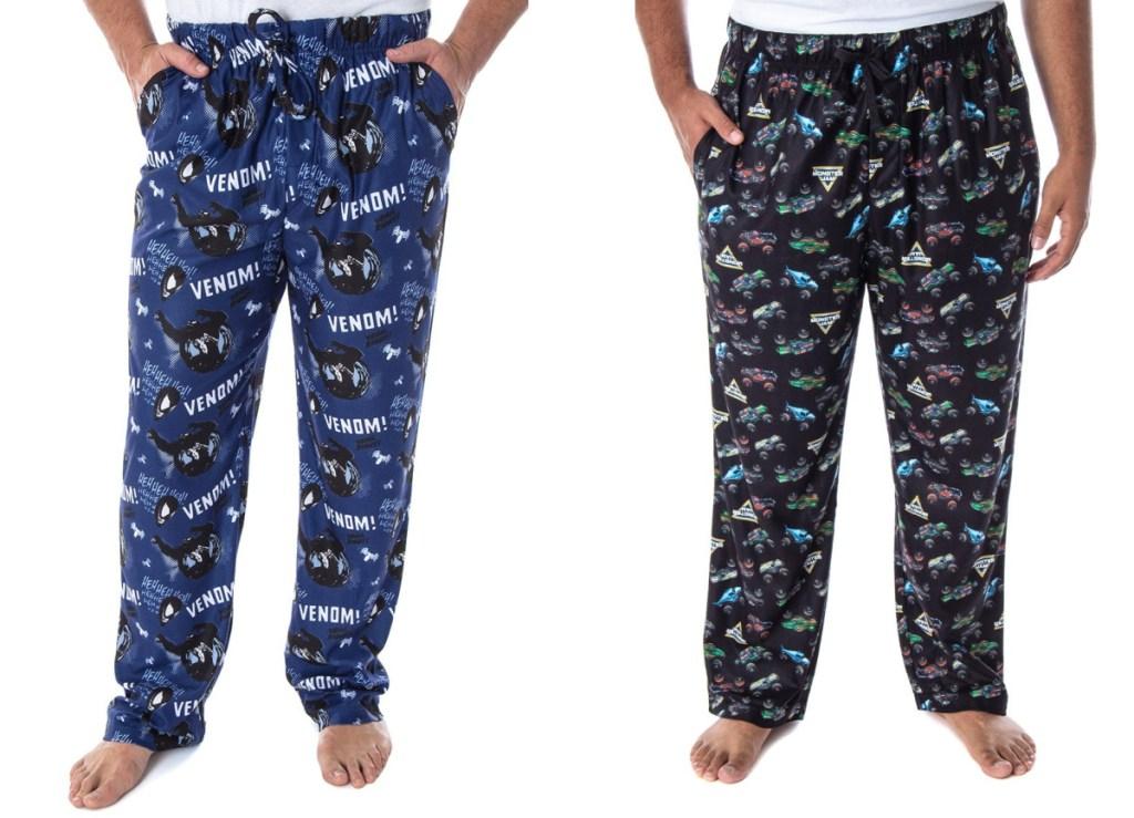 men wearing pajama bottoms