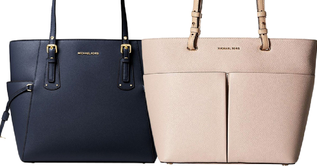 Michael Kors Totes in navy and beige