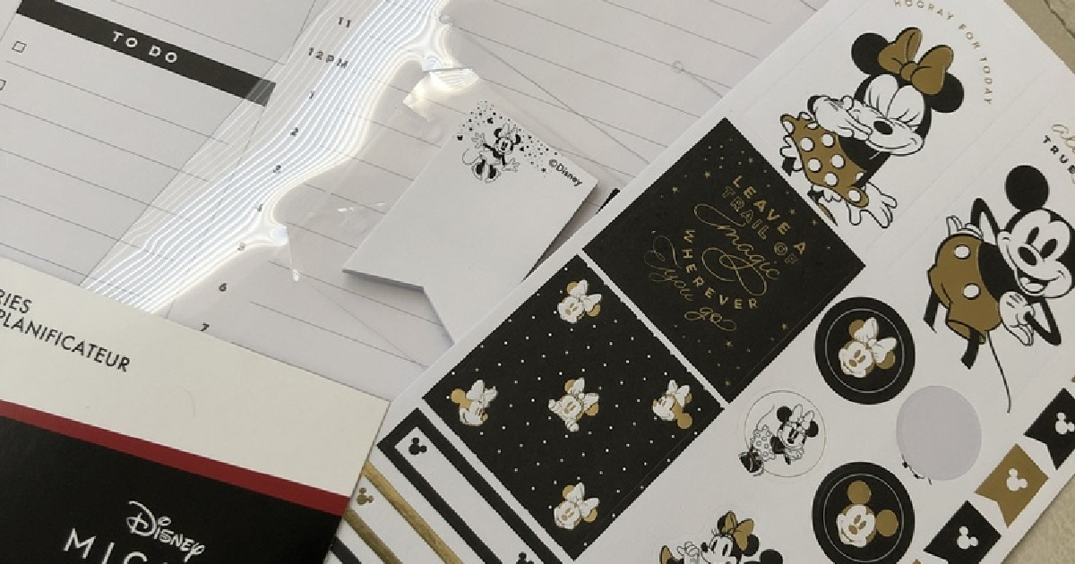 mickey and minnie mouse planner accessories