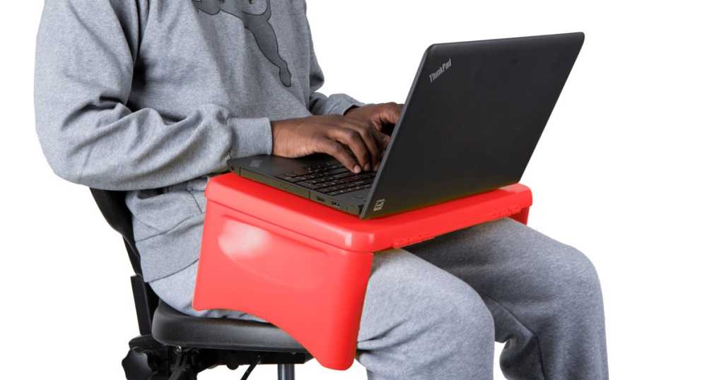 Mind Reader Folding Lap Desk and Tray with Storage Compartment