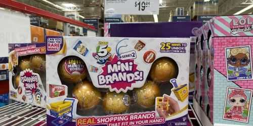 Mini Brands Collectible Surprise Ball 5-Pack Possibly Only $19.81 at Sam's Club | Contains 25 Miniatures