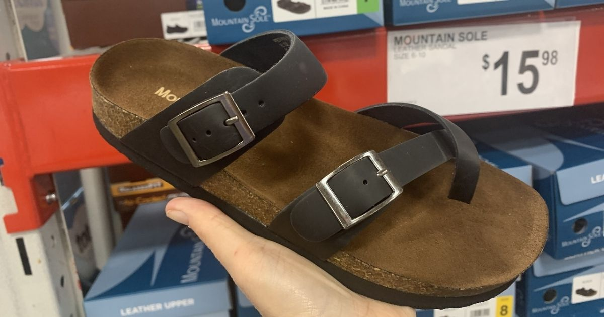 Women's Genuine Leather Footbed Sandals Only $15.98 at Sam's Club (Regularly $59)