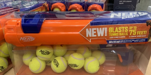 NERF Blaster Dog Toy w/ 12 Tennis Balls Only $18.99 at Costco