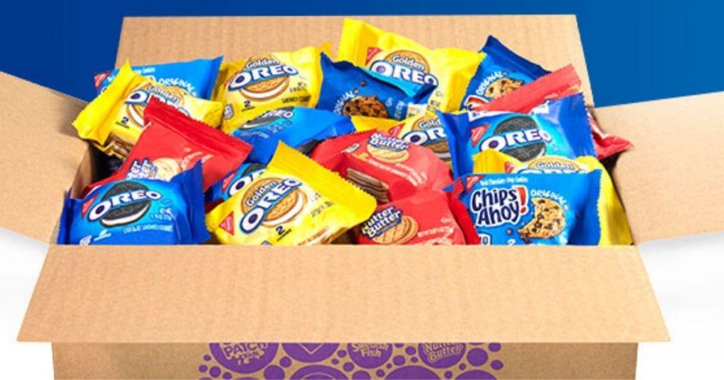 box of Nabisco Cookies Snack Packs