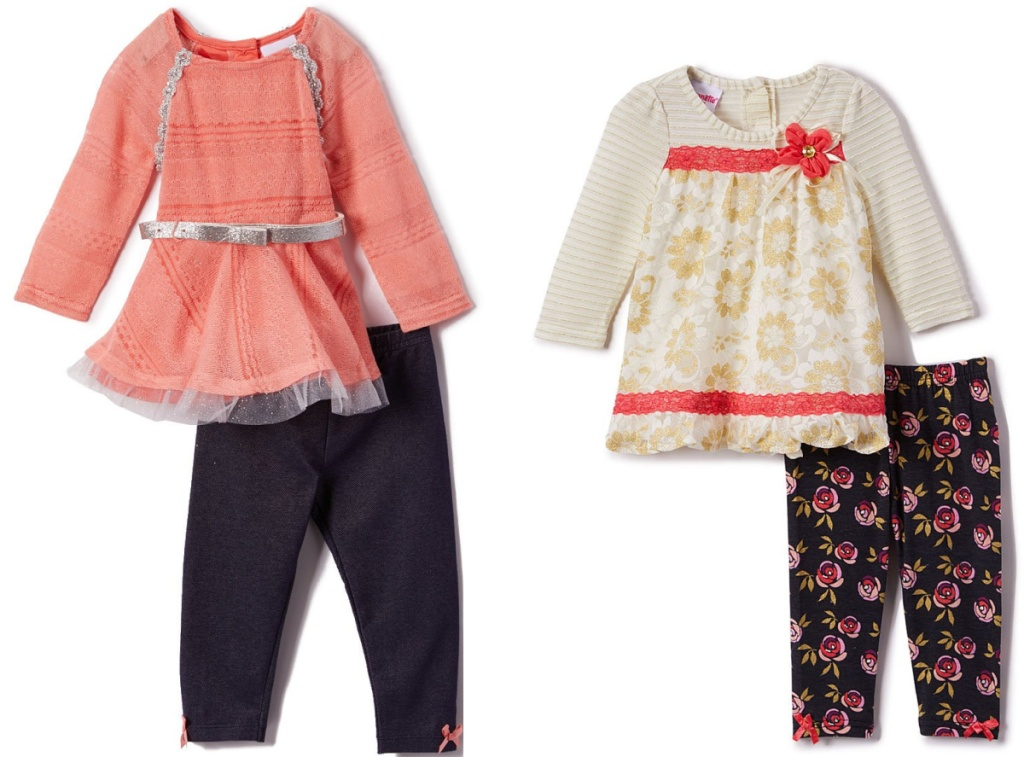 two styles of kids clothing