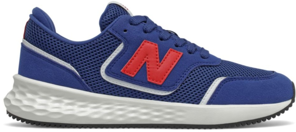reds red and blue new balance shoes